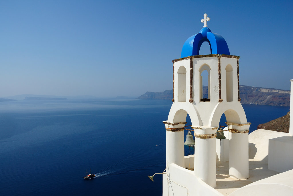 Blue bell tower - Oia, Santorini, Greece