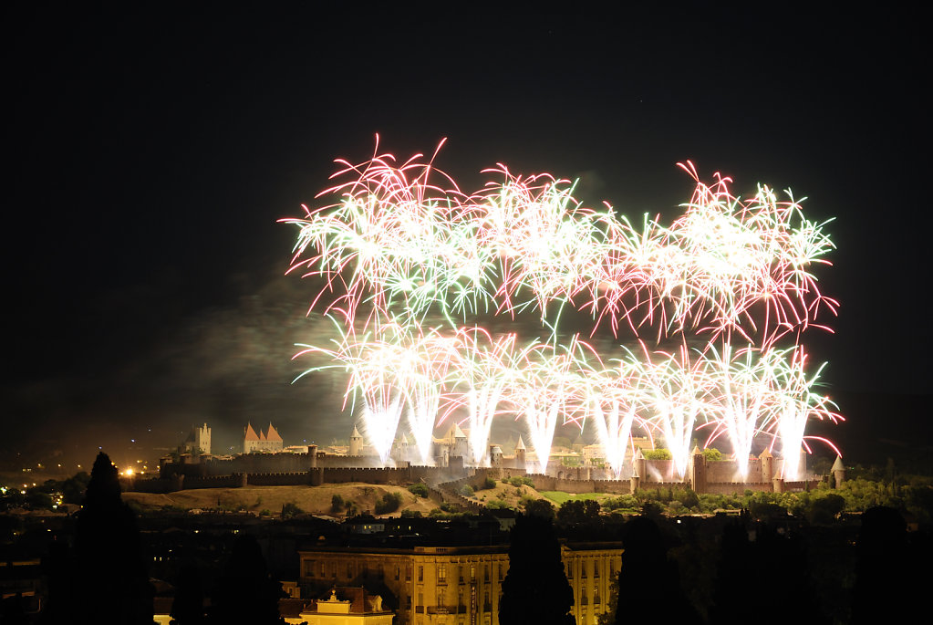 Carcassonne, fireworks I, France