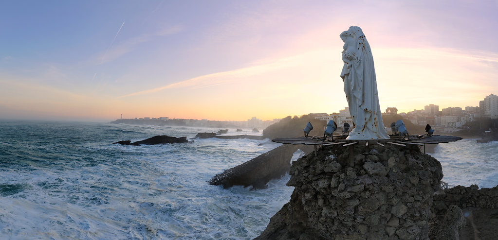 The rock of the virgin - Biarritz, France