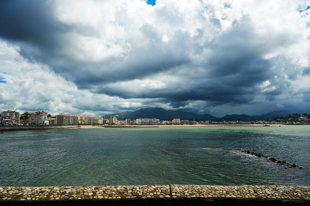 The beach is even in the sun - Saint Jean de Luz, France