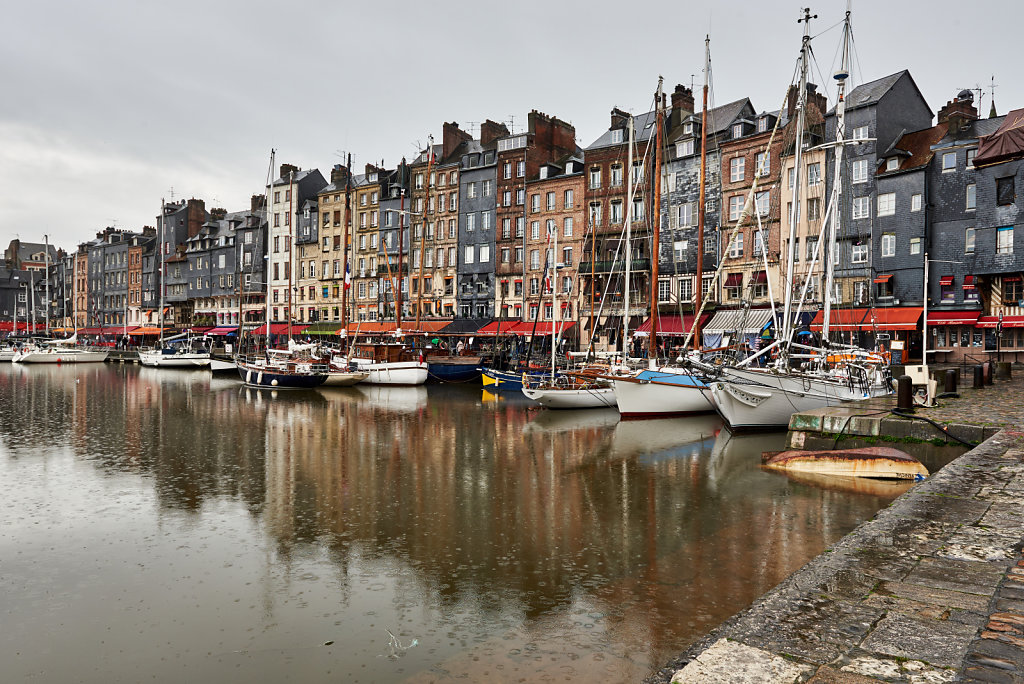 The Old Honfleur Basin - Normandy, France