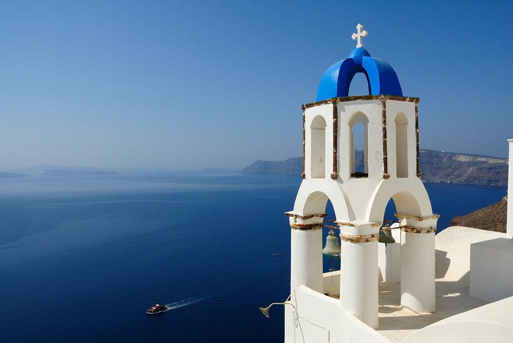 Blue bell tower - Oia, Santorini, Greece