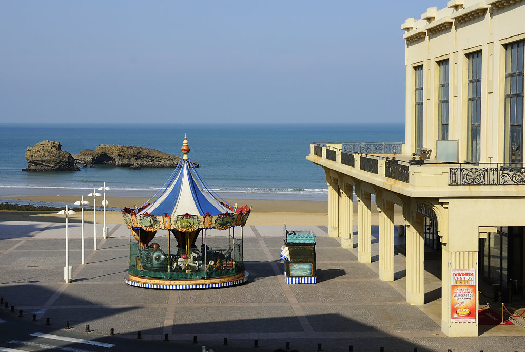 The carousel of Biarritz, France