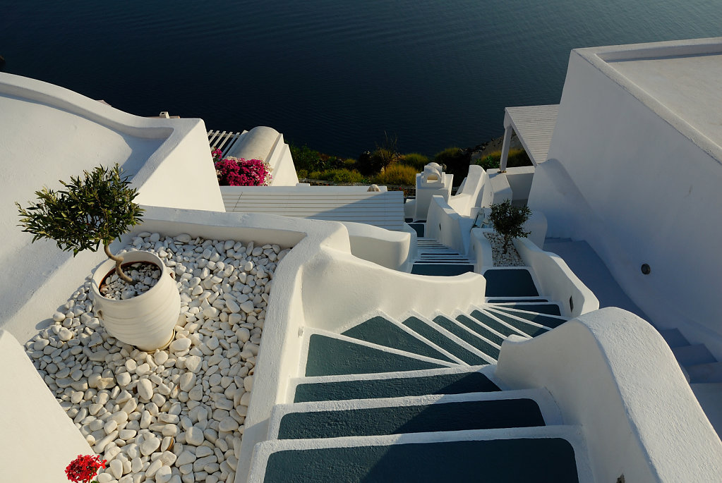 Urban stairs - Santorini, Greece