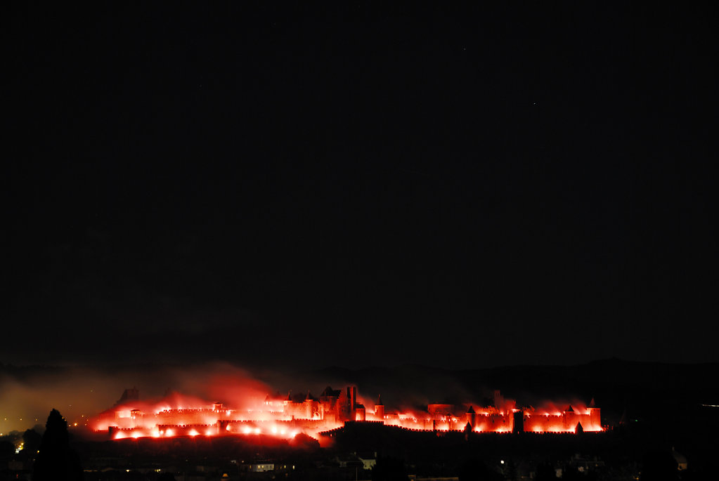 The burning of the city of Carcassonne, France
